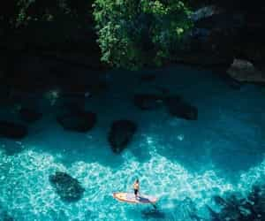 beautiful, holiday, and water image