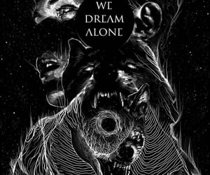 alone, art, and wolf image