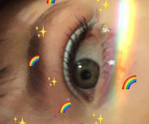 aesthetic, rainbow eyes, and green eyes image