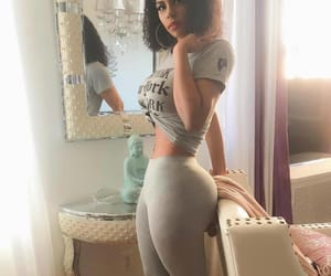 black woman, curvy, and thick image