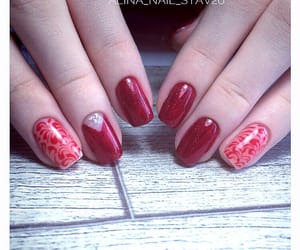 nail, red, and rednail image