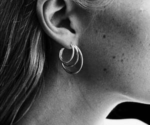 fashion, indie, and girl earrings image