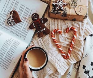 books, christmas, and candy cane image