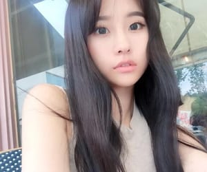 asian, eyes, and girl image