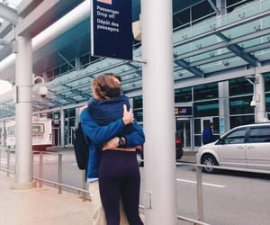 airport, couple, and boyfriend image