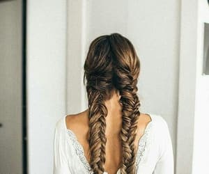 beauty, braided, and white image