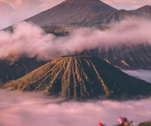 clouds, mountains, and pink image