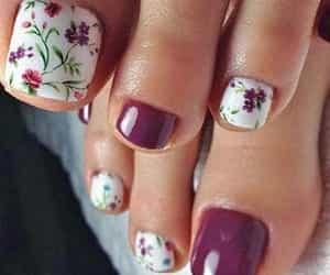 nails, pedi, and pedicure image