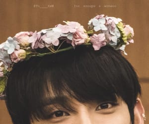 boy, flowers, and kpop image