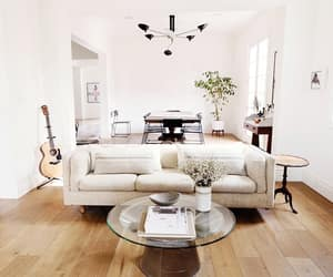 modern living room, bohemian living room, and modern eclectic image