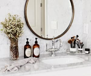 modern bathroom, modern eclectic, and marble bathroom image