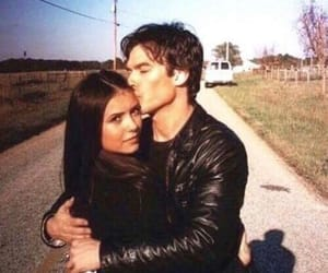 ian somerhalder, damon salvatore, and Nina Dobrev image