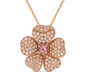 chain necklace, diamond, and 14k rose gold image