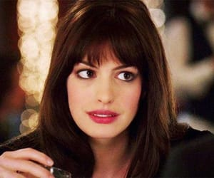 actress, Anne Hathaway, and bangs image