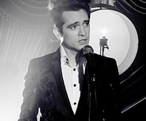 black & white, brendon urie, and funny face image