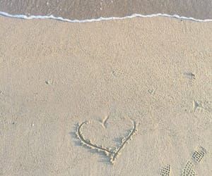aesthetic, heart, and beach image