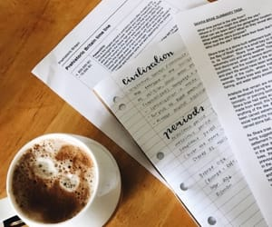 coffee, pretty notes, and motivation image