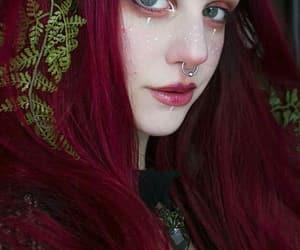dark red, makeup, and makeup art image