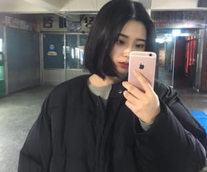 asian, hair, and korean image