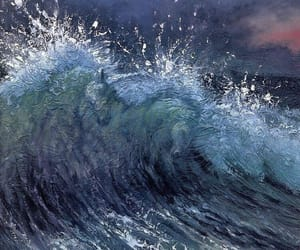 painting, art, and ocean image