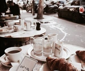 coffee, paris, and food image