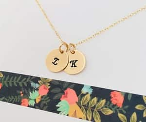 etsy, personalized, and initial necklace image
