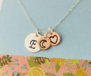 bridesmaid, personalized, and sterling silver image