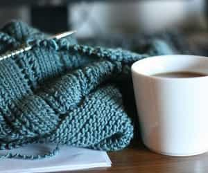 coffee, tea, and knit image