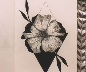 black and white, dot, and geometric image