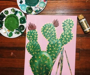 art, artist, and cacti image