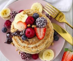 food, fruit, and Hotcake image