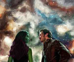 starlord, guardians of the galaxy, and gamora image