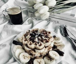 food, banana, and bed image