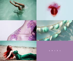 aesthetic, disney, and the little mermaid image