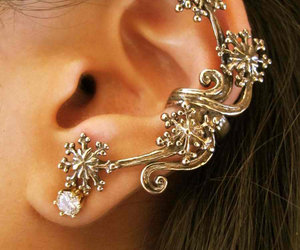 earrings, ear, and jewelry image