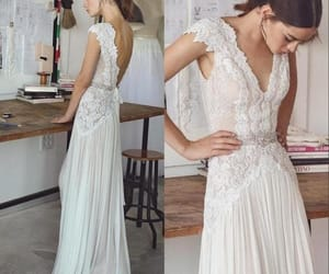 bridal gown, wedding dress, and bridal dress image