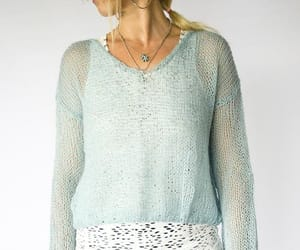 baby blue, mohair, and sweater image