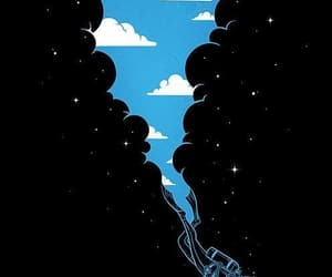 ilustraciones, nubes, and mar image