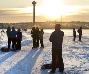 ice, lake, and tampere image