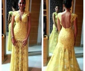 dress, lace, and prom dress image