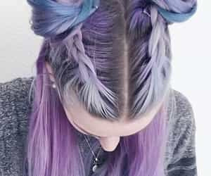 hairstyle and purple image