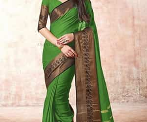 cotton saree and simple and elegant look image