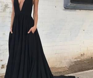 black dress, prom2018, and prom dress image