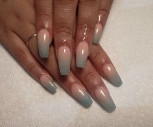 nails, ombre, and fullset image