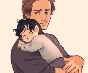 father, son, and star wars image
