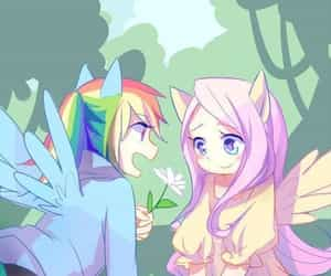 MLP, rainbow dash, and fluttershy image