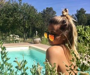 bikini, blonde, and lunettes image