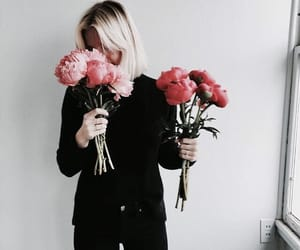 flowers, fashion, and black image