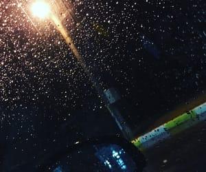 car, night, and rain image