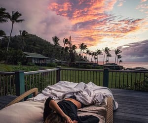 bed, lifestyle, and nature image